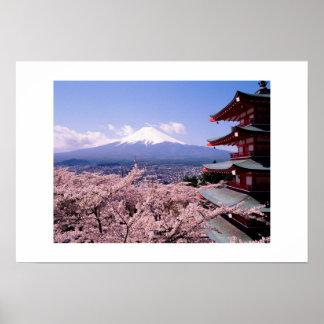 桜とのMt Fuki ポスター