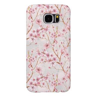 桜によっては枝ピンクの開花が開花します SAMSUNG GALAXY S6 ケース