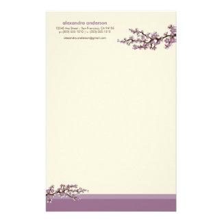 桜のカスタムな文房具(ラベンダー) 便箋