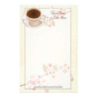 桜のコーヒー文房具 便箋
