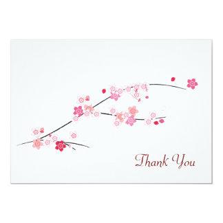 桜のサンキューカード 12.7 X 17.8 インビテーションカード