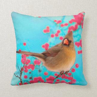 桜のターコイズの枕の基本的な鳥 クッション