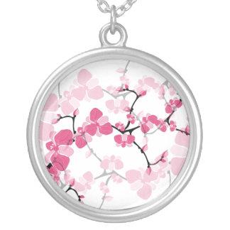 桜のツリーブランチのネックレス シルバープレートネックレス