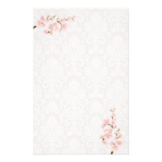 桜のツリーブランチの文房具 便箋