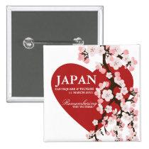桜のハート 缶バッジ