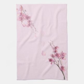 桜のピンクの台所タオル キッチンタオル