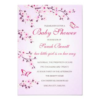 桜のベビーシャワー カード