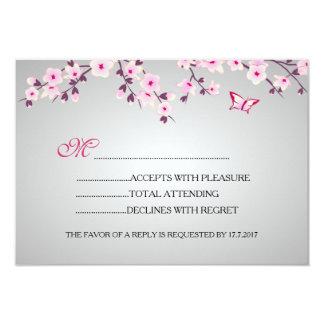 桜のベビーシャワーRSVP カード