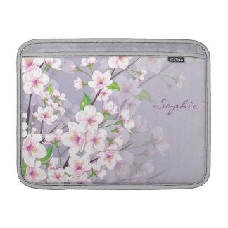桜のモノグラムの人力車の袖 MacBook スリーブ