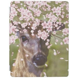 桜の下のシカ iPadスマートカバー