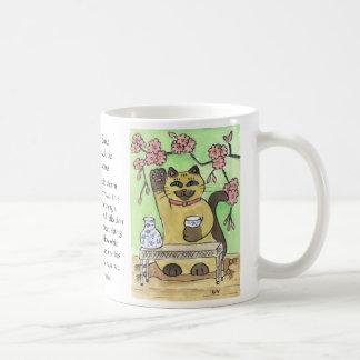 桜の下の幸運な為の時 コーヒーマグカップ
