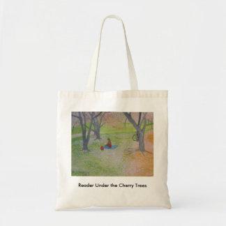 桜の下の読者 トートバッグ