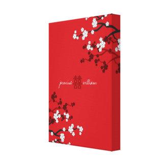 桜の二重幸福の中国のな結婚式 キャンバスプリント