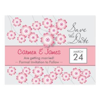 桜の保存日付の郵便はがき ポストカード