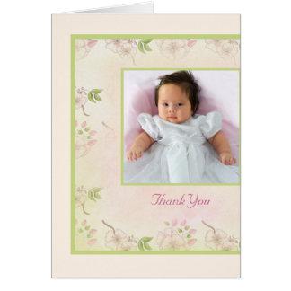 桜の写真のサンキューカード カード