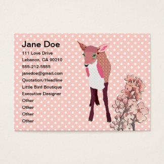 桜の子鹿の名刺 名刺
