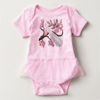 桜の孔雀 ベビーボディスーツ