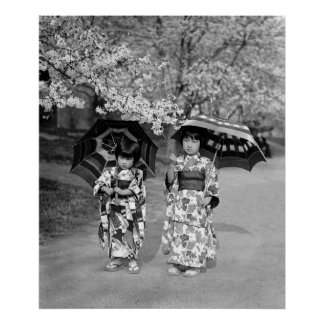 桜の散歩1925年 ポスター