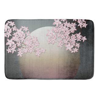 桜の月のデザインのアジア刺激を受けたなバス・マット バスマット
