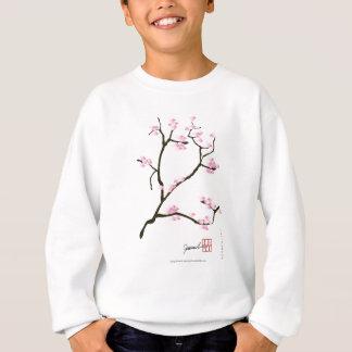桜の木および鳥の贅沢なfernandes スウェットシャツ