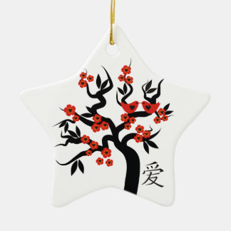 桜の木中国のな愛記号のカスタムなオーナメント セラミックオーナメント