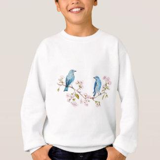 桜の枝の山のブルーバード スウェットシャツ