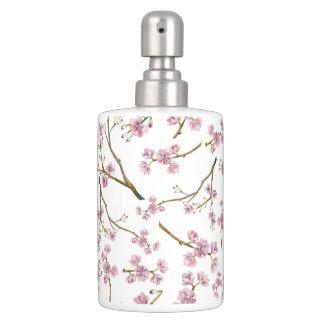 桜の桜のプリント バスセット