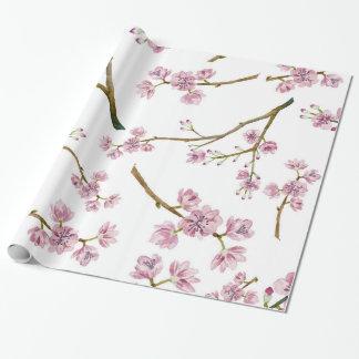 桜の桜のプリント ラッピングペーパー