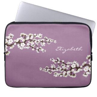 桜の桜のラップトップスリーブ(紫色) ラップトップスリーブ