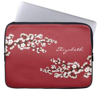 桜の桜のラップトップスリーブ(赤い) ラップトップスリーブ