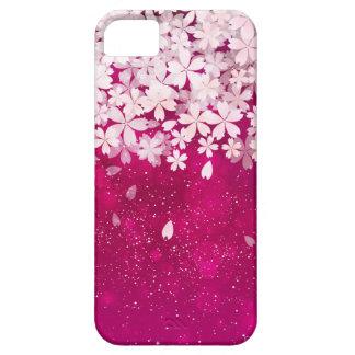 桜の桜の明るい赤紫色及び白い花 iPhone SE/5/5s ケース