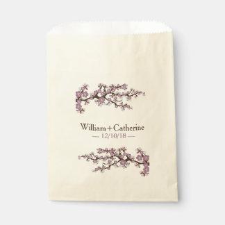 桜の桜の花の好意のバッグ|の紫色 フェイバーバッグ