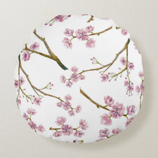 桜の桜パターン ラウンドクッション