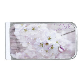 桜の桜 銀色 マネークリップ
