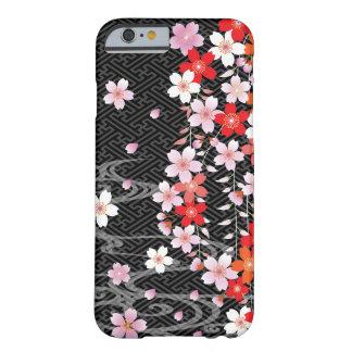 桜の着物パターン習慣のiPhone6ケース Barely There iPhone 6 ケース