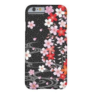 桜の着物パターン習慣のiPhone6ケース iPhone 6 ベアリーゼアケース