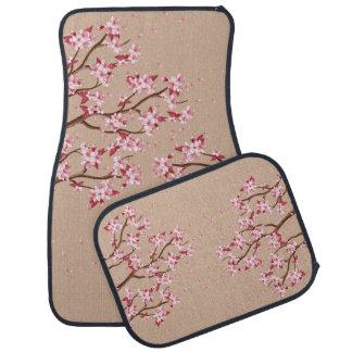 桜の税関支署車のフロアマット カーマット