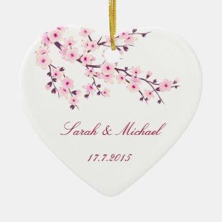 桜の結婚式の引き出物のオーナメント セラミックオーナメント