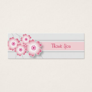 桜の結婚式の引き出物のラベル スキニー名刺
