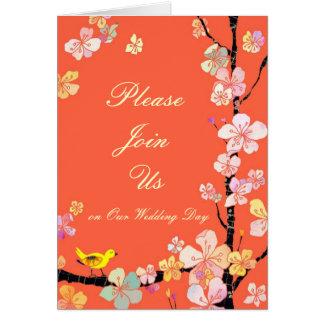 桜の結婚式招待状カード カード