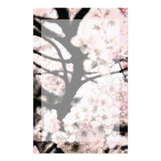 桜の編集された文房具 便箋