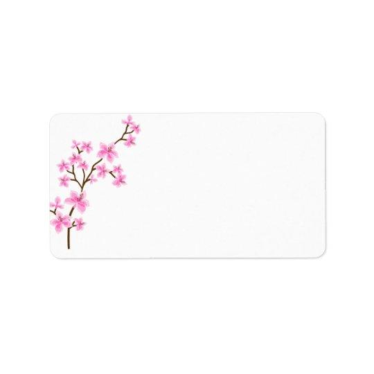 桜の船積みの住所シール ラベル