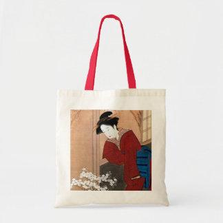 桜の花と女、春章の桜および女性、Shunsho トートバッグ