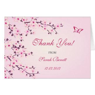 桜の花柄はベビーシャワー感謝していしています グリーティングカード