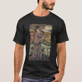 桜の芸者のTシャツ Tシャツ