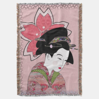 桜の芸者 スローブランケット