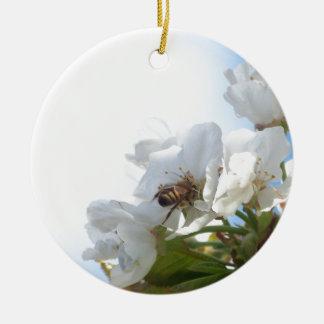 桜の蜂蜜の蜂 セラミックオーナメント