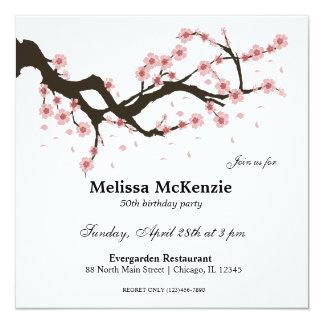桜の誕生会 13.3 スクエアインビテーションカード