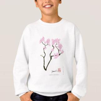 桜の開花の白い目の鳥、贅沢なfernandes スウェットシャツ