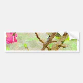 桜の《鳥》アメリカゴガラ バンパーステッカー